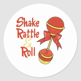 SHAKE RATTLE AND ROLL ROUND STICKERS