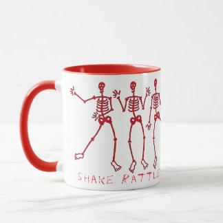 shake rattle & roll dem bones Skeletons Mug