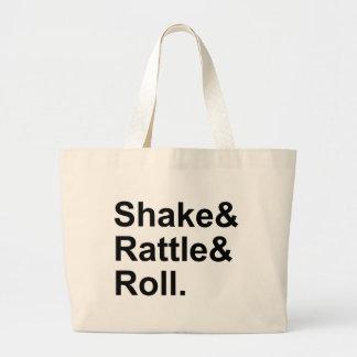 Shake Rattle & Roll   Spirit of Rock N' Roll Music Large Tote Bag