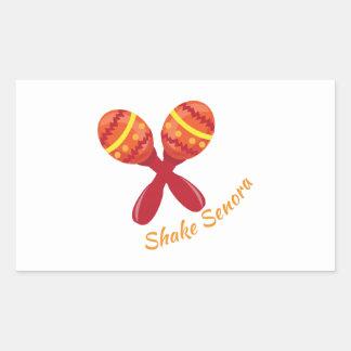 Shake Senora Rectangular Sticker