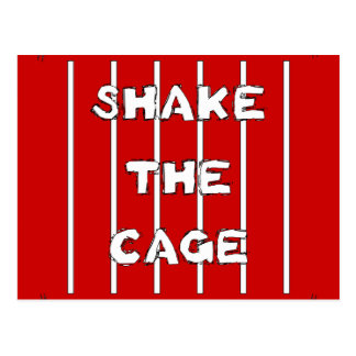 Shake The Cage Postcard