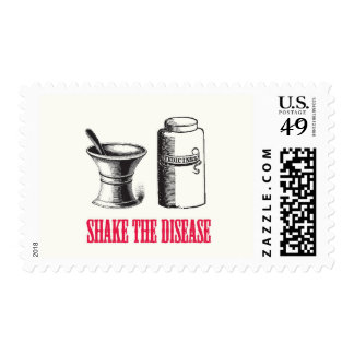 Shake the Disease Get Well Postage