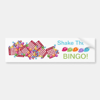 Shake Those BALLS BINGO Bumper Sticker