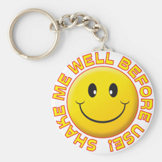 Shake Well Smiley Key Chains