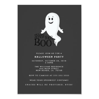 Shake Your Boo-ty Halloween Party Card