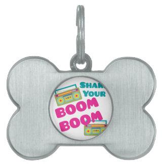 Shake Your Boom Pet Name Tag