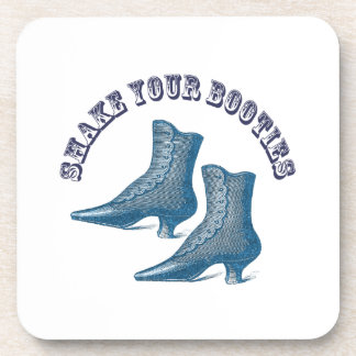 Shake Your Booties Vintage Victorian Boots Drink Coaster