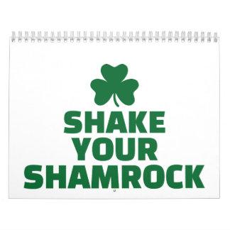Shake your shamrock wall calendars
