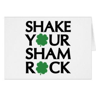 Shake Your Shamrock Greeting Card