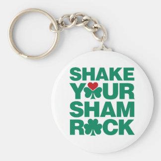 Shake Your Shamrock - Green Keychain