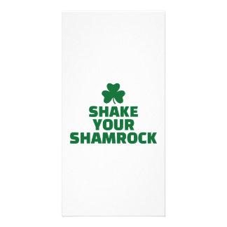 Shake your shamrock photo greeting card