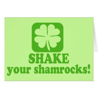 Shake Your Shamrocks Greeting Card