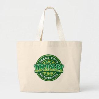 Shake Your Shamrocks Large Tote Bag