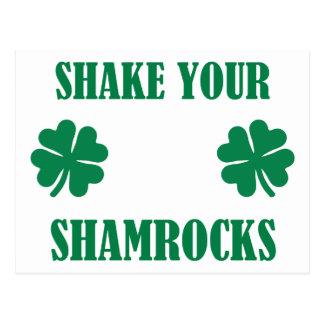 Shake your shamrocks postcard