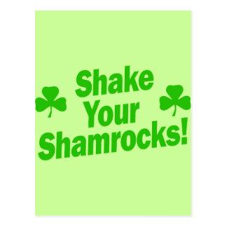 Shake Your Shamrocks! Postcard
