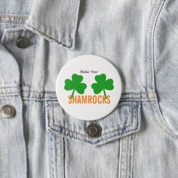 Bride Themed Shake Your Shamrocks St. Patrick's Party Button