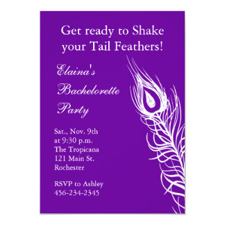 Shake your Tail Feathers Bachelorette (violet) Card
