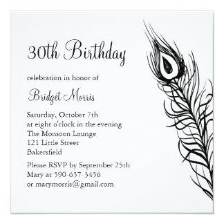 Shake Your Tail Feathers Birthday Invite (white)