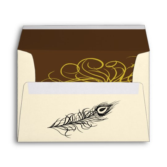 Shake your Tail Feathers Invite Envelope (brown)