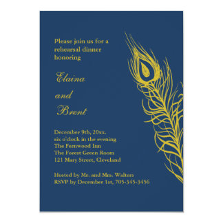 Shake your Tail Feathers Rehearsal Dinner Card