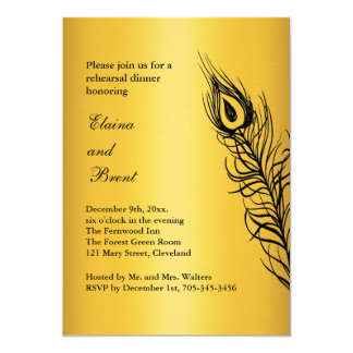 Shake your Tail Feathers Rehearsal Dinner gold Card