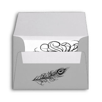 Shake your Tail Feathers RSVP Envelope