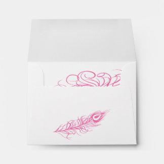 Shake your Tail Feathers RSVP Envelope (fuchsia)