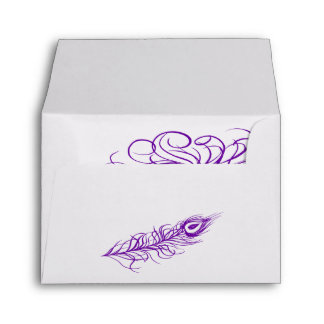 Shake your Tail Feathers RSVP Envelope (violet)