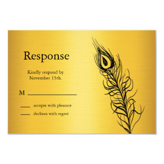 Shake your Tail Feathers RSVP (gold) Card