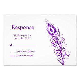 Shake your Tail Feathers RSVP (violet) Custom Invitations