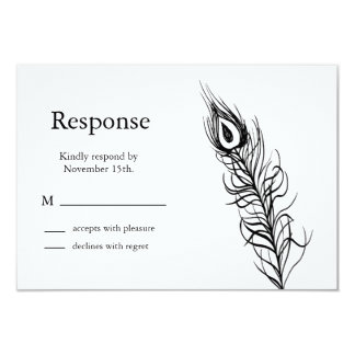 Shake your Tail Feathers RSVP (white) Card