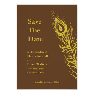 Shake your Tail Feathers Save the Date brown Card