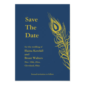 Shake your Tail Feathers Save the Date Card