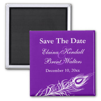 Shake your Tail Feathers Save the Date (violet) Magnet