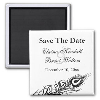 Shake your Tail Feathers Save the Date (white) Magnet