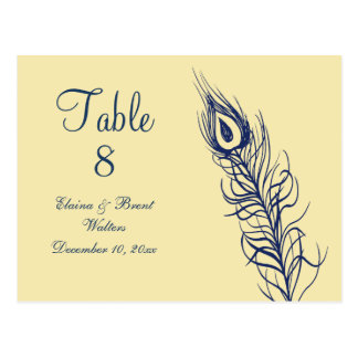 Shake your Tail Feathers Table Number (yellow) Postcard