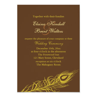 Shake your Tail Feathers Wedding Invitation brown