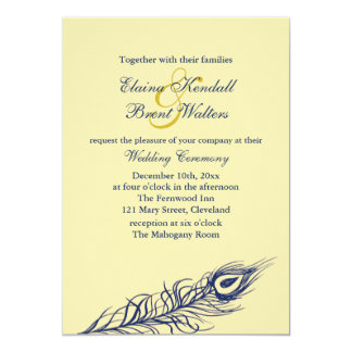Shake your Tail Feathers Wedding Invitation yellow