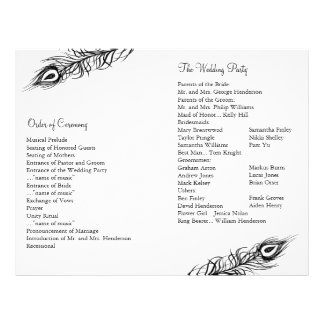 Shake your Tail Feathers Wedding Program Personalized Flyer