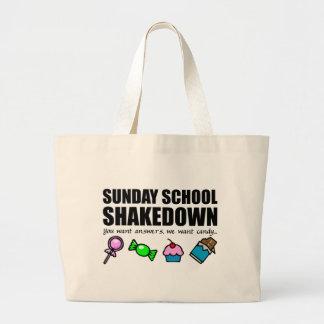 Shakedown de la escuela dominical bolsa tela grande