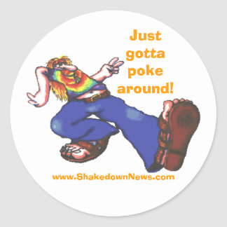 "Shakedown News ""Poke Around"" Sticker"