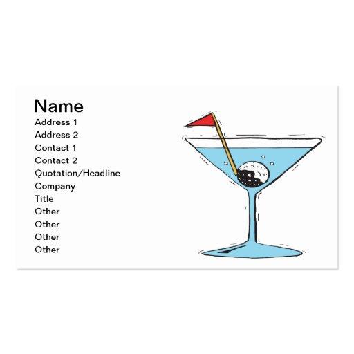 Shaken Not Stirred Business Card Template