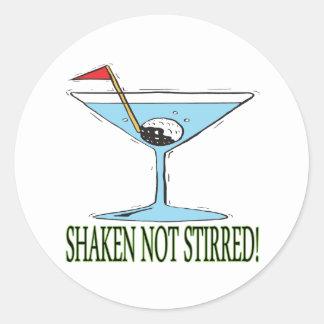 Shaken Not Stirred Classic Round Sticker