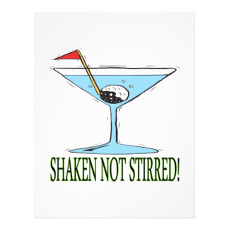"Shaken Not Stirred 8.5"" X 11"" Flyer"