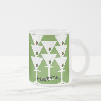 Shaken, not Stirred. Frosted Glass Coffee Mug