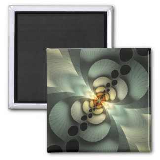 Shaken, Not Stirred Green Abstract Magnet
