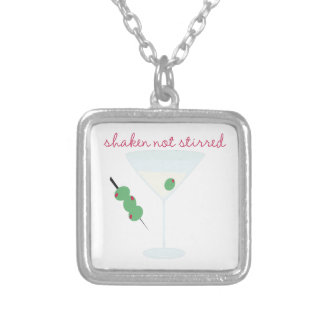 Shaken Not Stirred Silver Plated Necklace