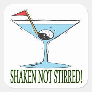 Shaken Not Stirred Square Sticker