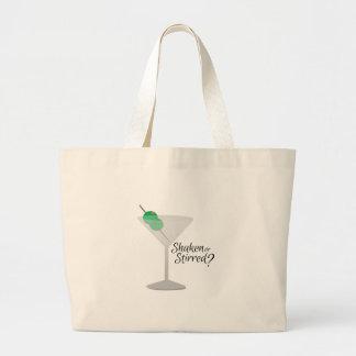 Shaken or Stirred Jumbo Tote Bag