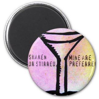 SHAKEN OR STIRRED...MARTINI TIME PASTEL PRINT MAGNET